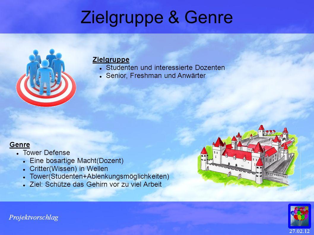 Zielgruppe & Genre Zielgruppe Studenten und interessierte Dozenten