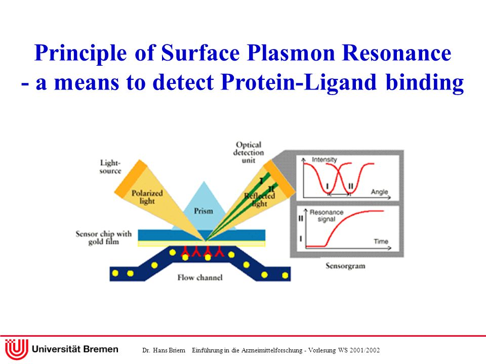 Principle of Surface Plasmon Resonance - a means to detect Protein-Ligand binding