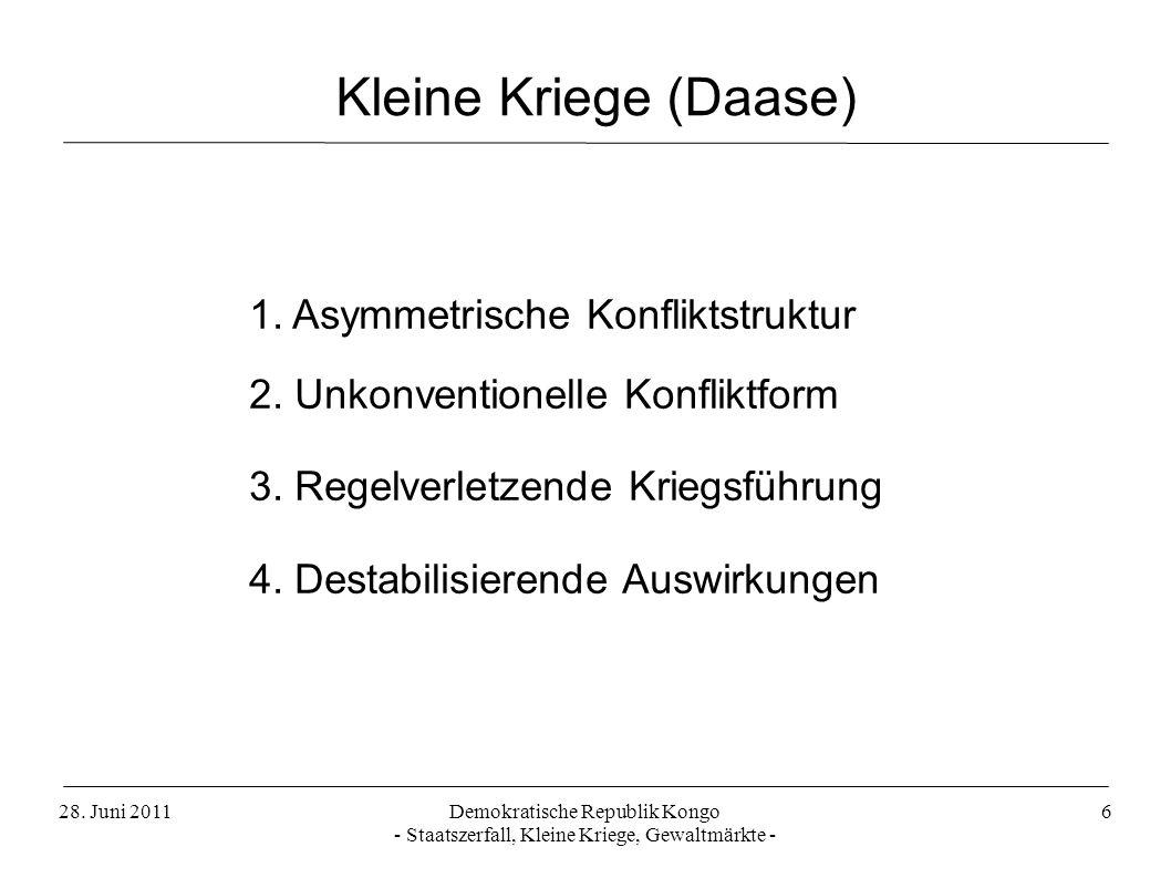 Kleine Kriege (Daase) 1. Asymmetrische Konfliktstruktur