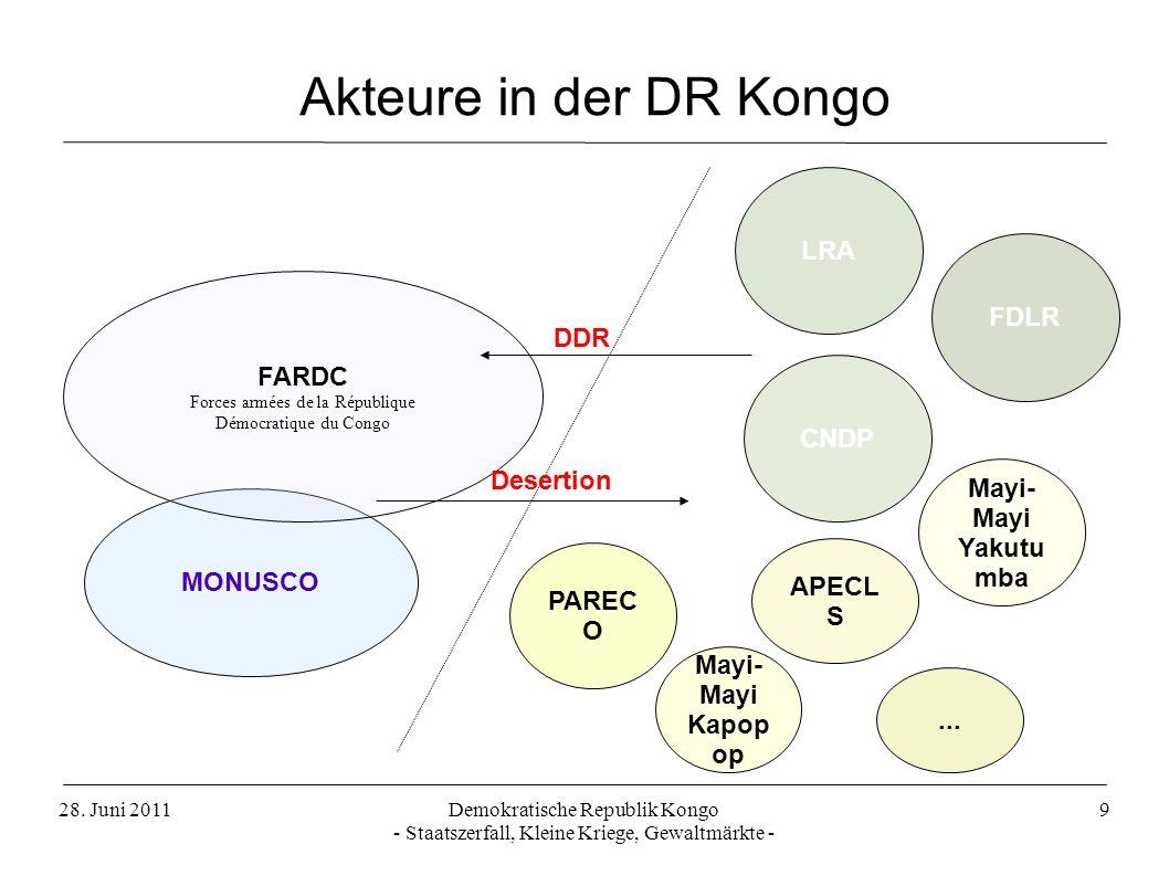Akteure in der DR Kongo LRA FDLR FARDC DDR CNDP Desertion Mayi-Mayi
