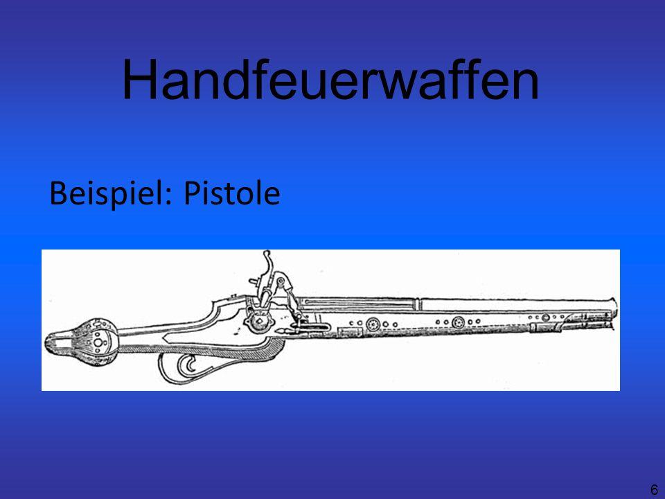 Handfeuerwaffen Beispiel: Pistole