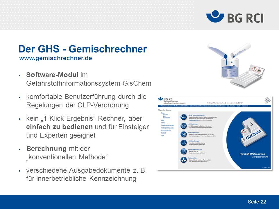 Der GHS - Gemischrechner