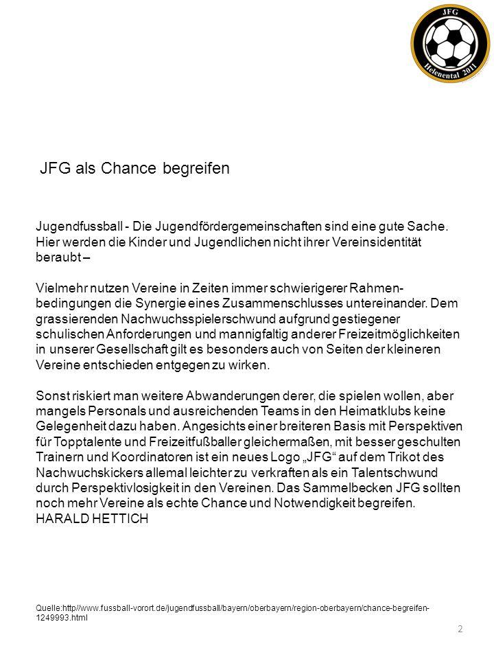 JFG als Chance begreifen