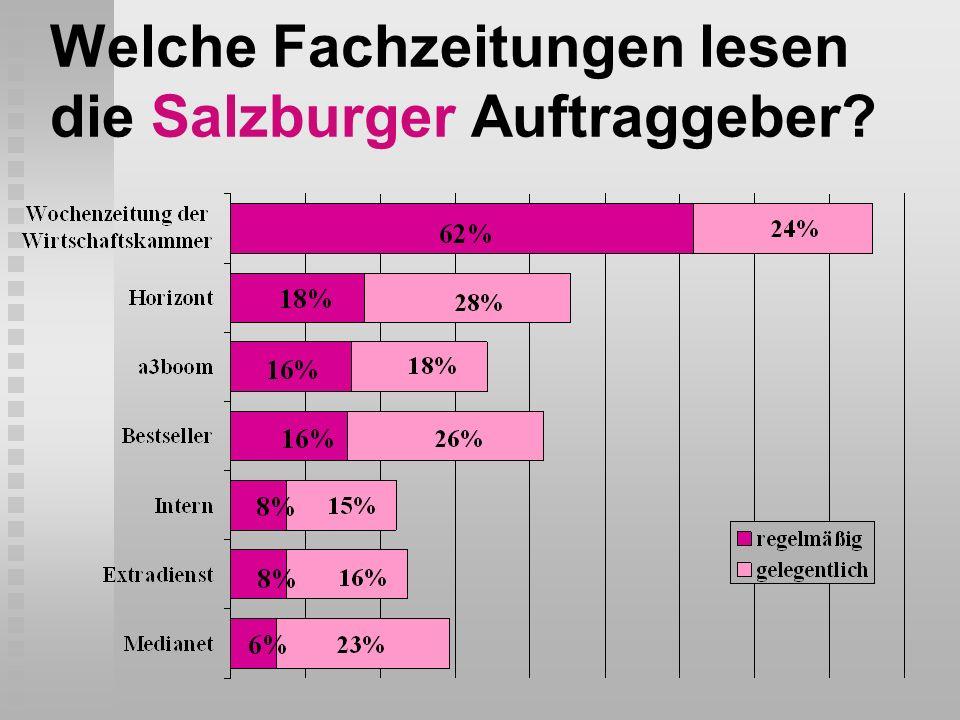 Welche Fachzeitungen lesen die Salzburger Auftraggeber