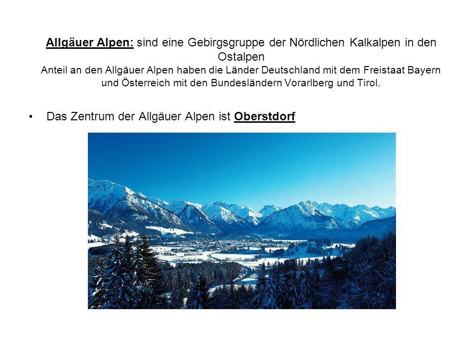 Das Zentrum der Allgäuer Alpen ist Oberstdorf