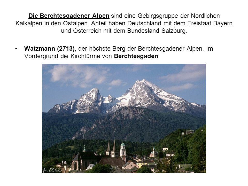 Die Berchtesgadener Alpen sind eine Gebirgsgruppe der Nördlichen Kalkalpen in den Ostalpen. Anteil haben Deutschland mit dem Freistaat Bayern und Österreich mit dem Bundesland Salzburg.