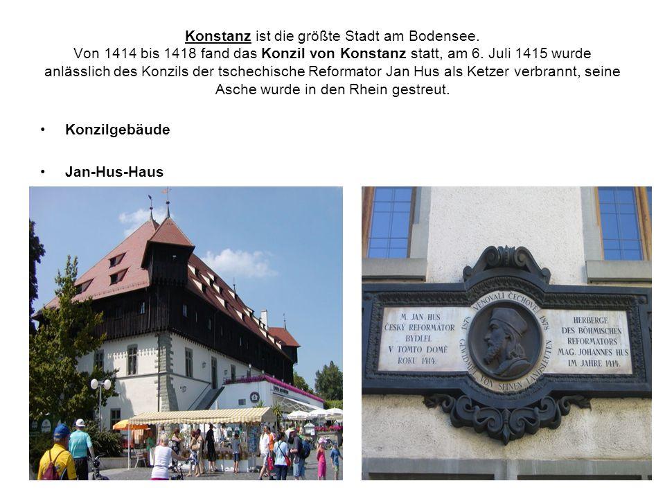 Konstanz ist die größte Stadt am Bodensee