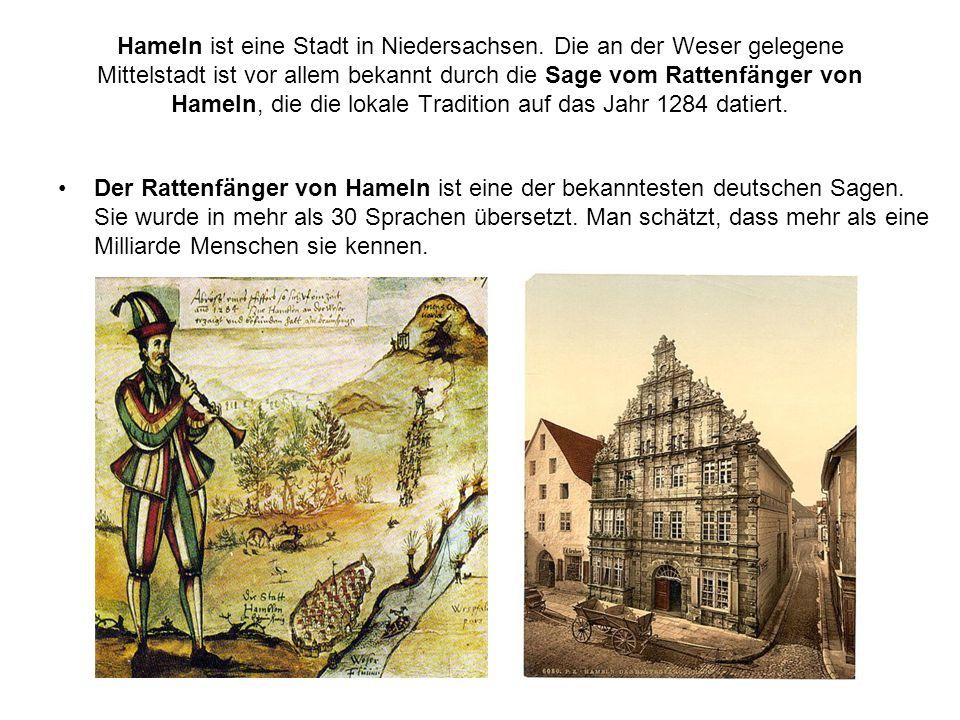 Hameln ist eine Stadt in Niedersachsen