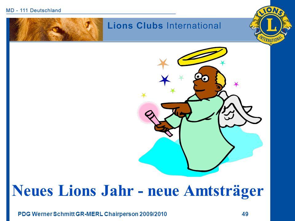 Neues Lions Jahr - neue Amtsträger