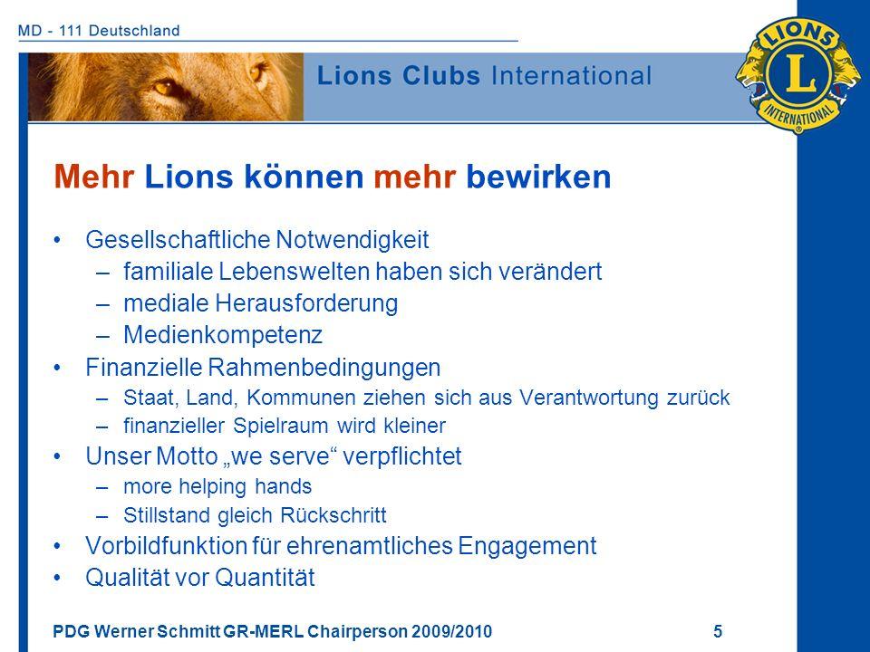 Mehr Lions können mehr bewirken