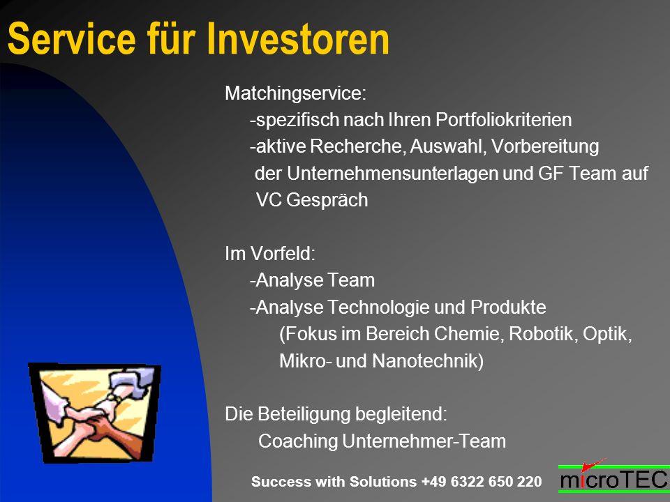 Service für Investoren