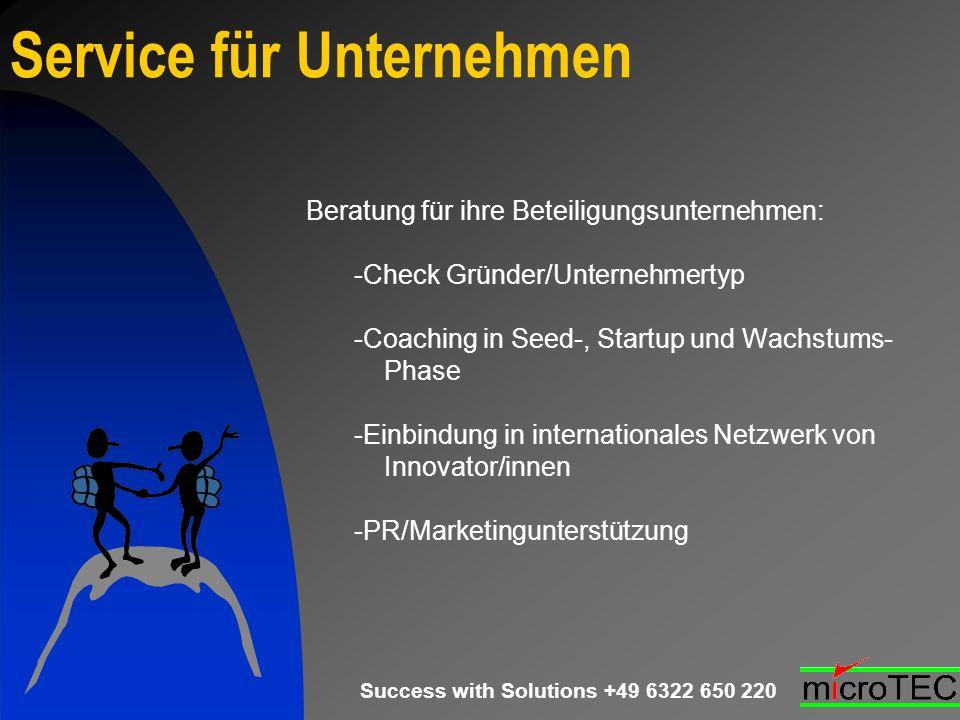 Service für Unternehmen