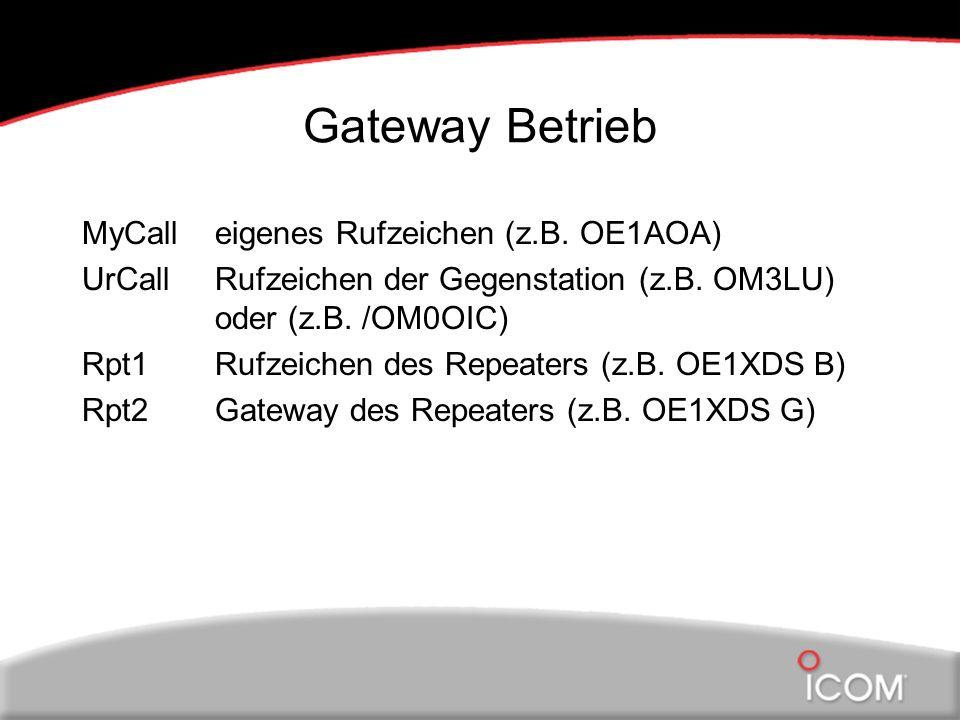 Gateway Betrieb