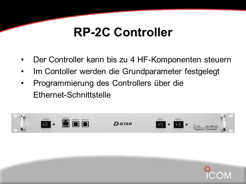 RP-2C Controller Der Controller kann bis zu 4 HF-Komponenten steuern