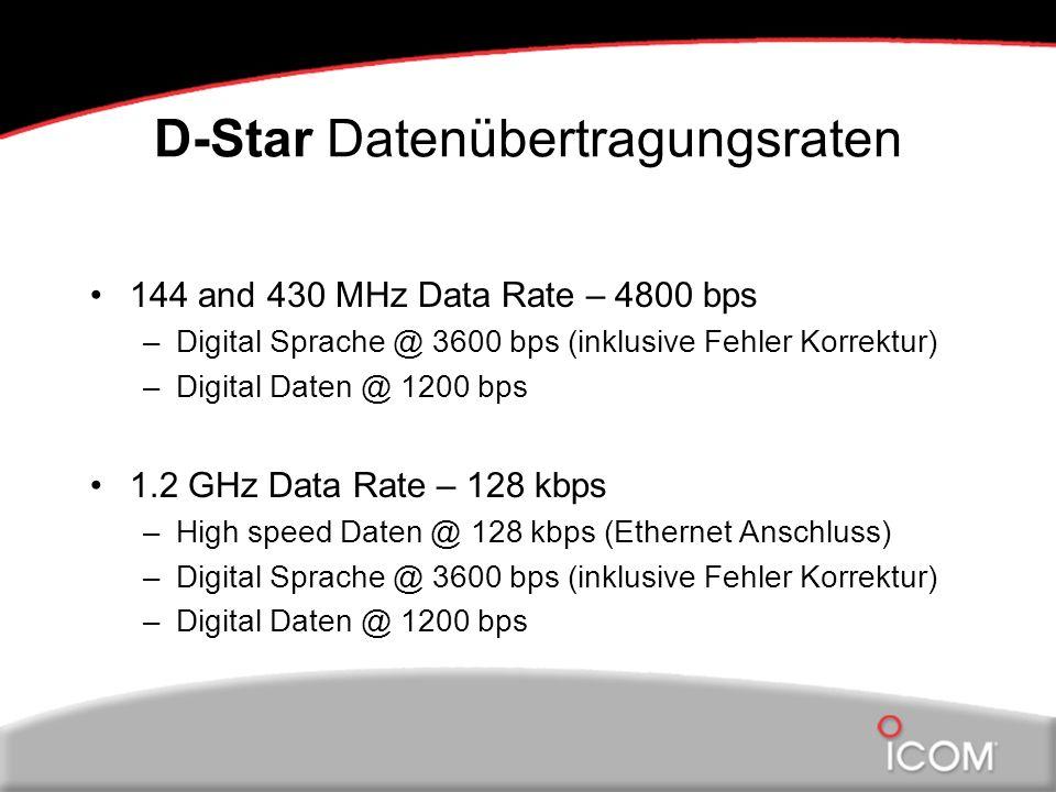 D-Star Datenübertragungsraten
