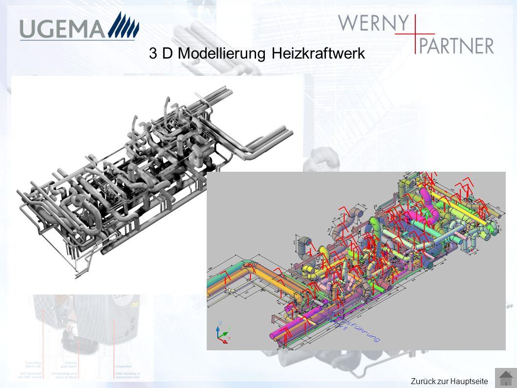 3 D Modellierung Heizkraftwerk