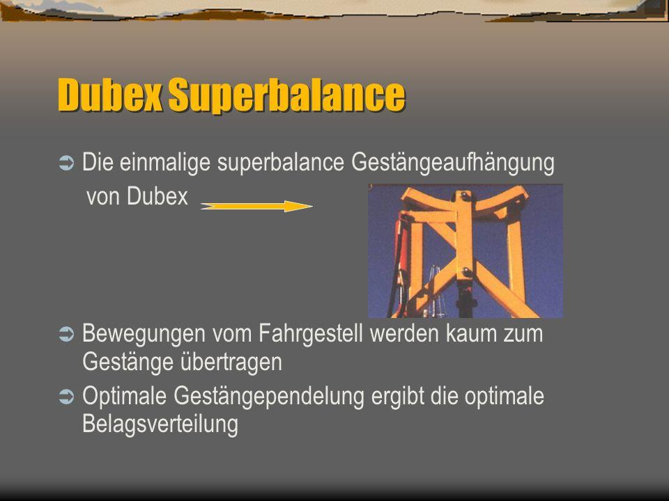 Dubex Superbalance Die einmalige superbalance Gestängeaufhängung