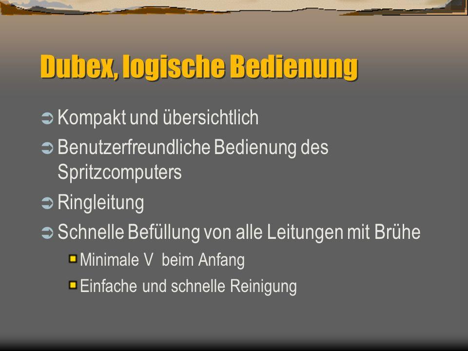 Dubex, logische Bedienung