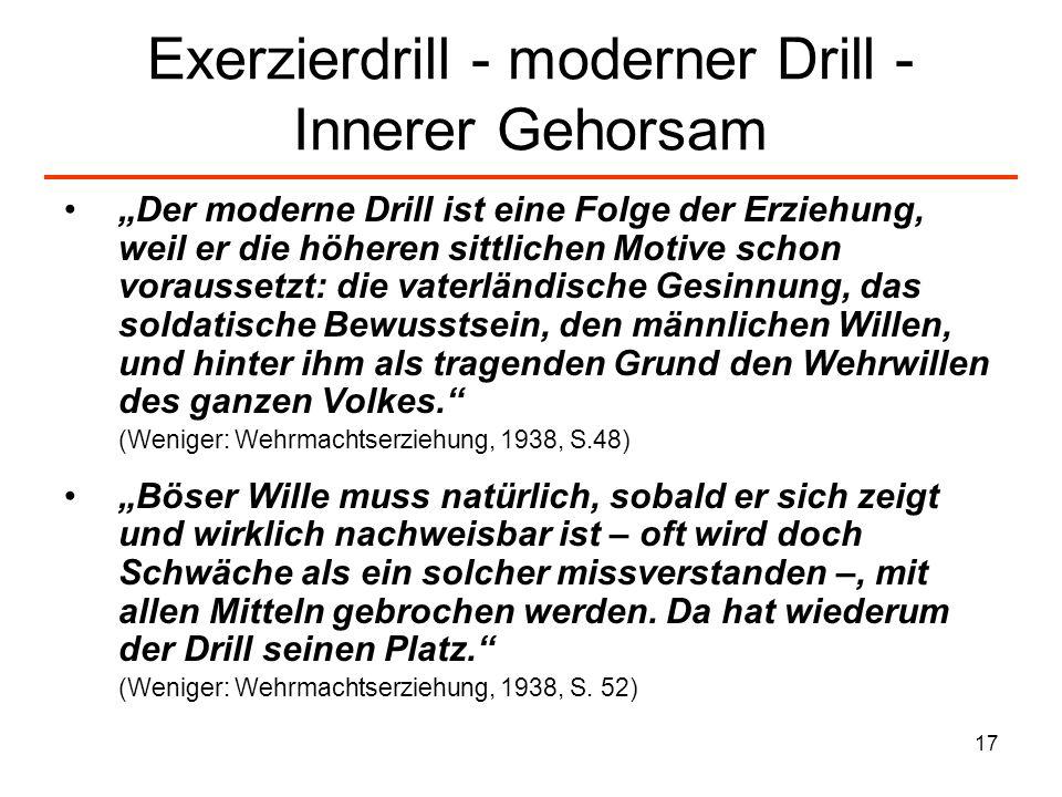 Exerzierdrill - moderner Drill -Innerer Gehorsam