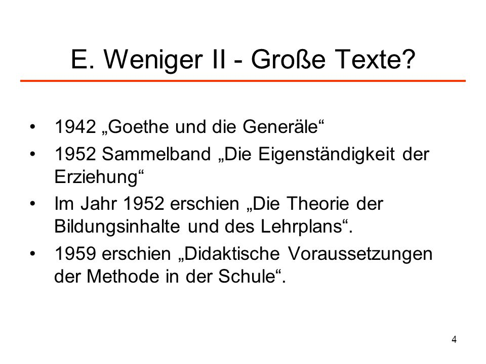 E. Weniger II - Große Texte