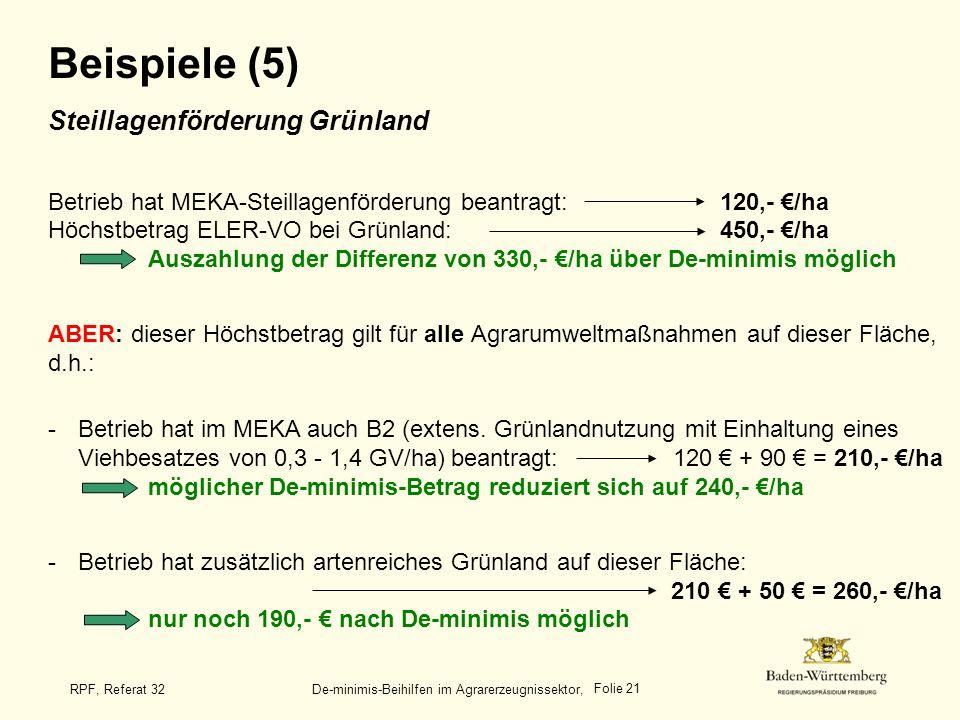 Beispiele (5) Steillagenförderung Grünland