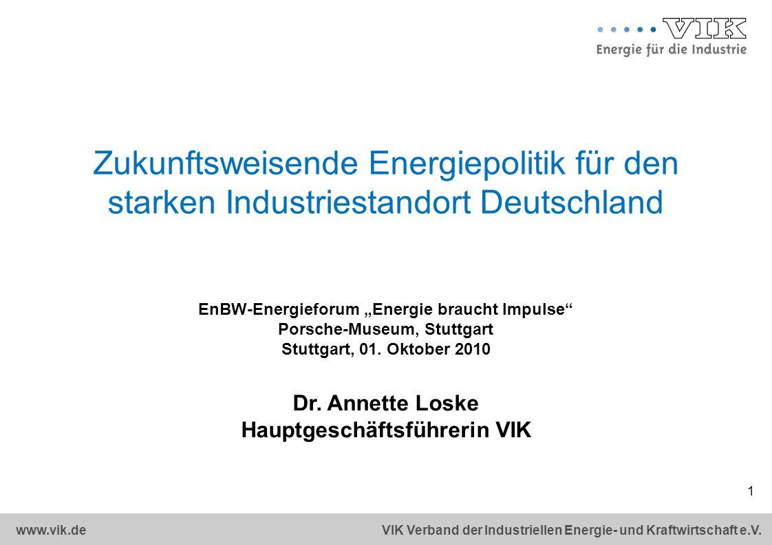 Zukunftsweisende Energiepolitik für den starken Industriestandort Deutschland
