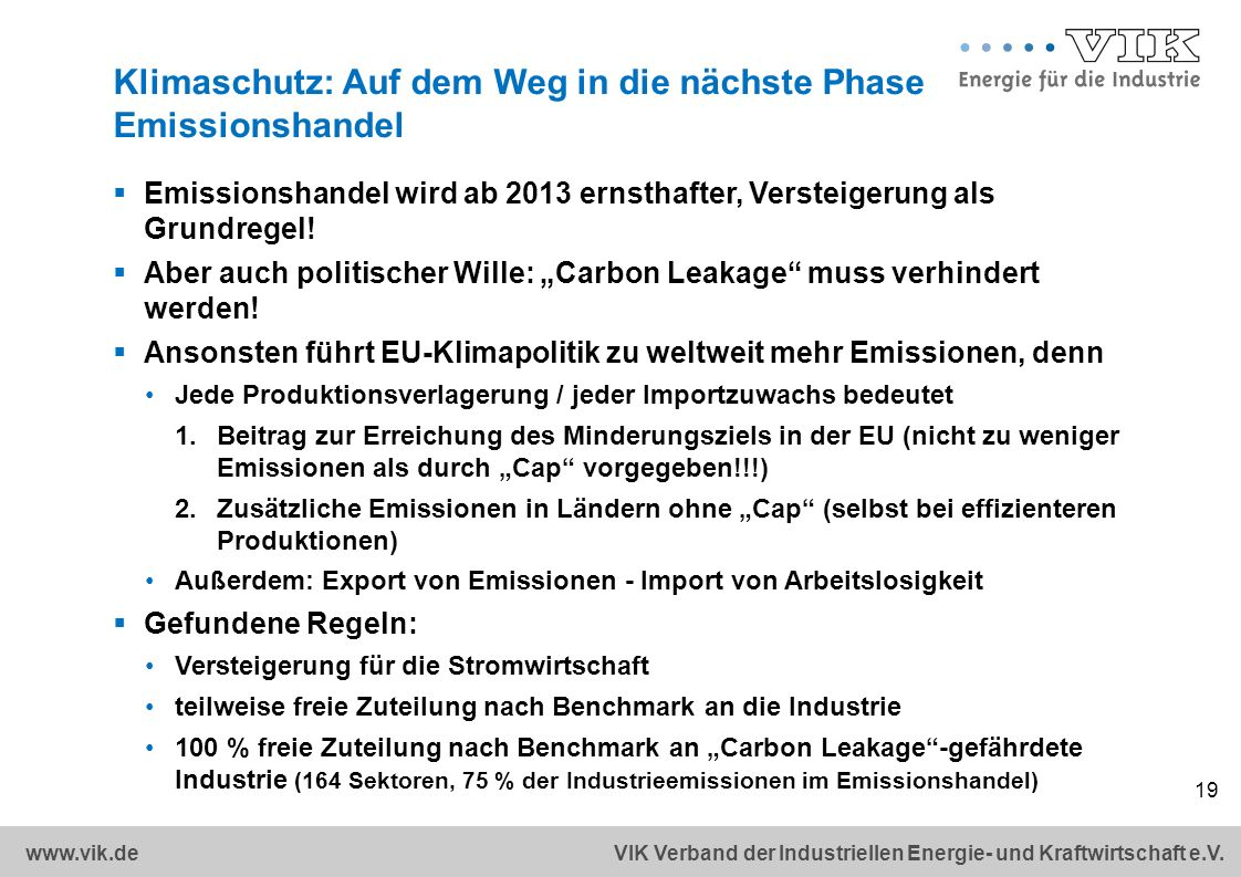 Klimaschutz: Auf dem Weg in die nächste Phase Emissionshandel