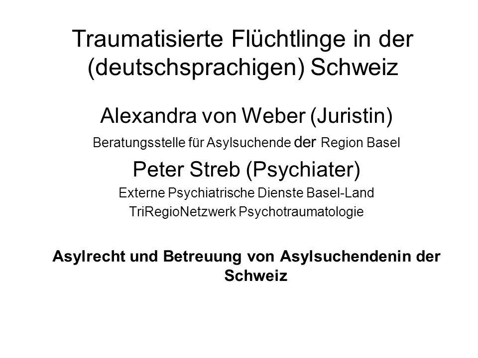 Traumatisierte Flüchtlinge in der (deutschsprachigen) Schweiz