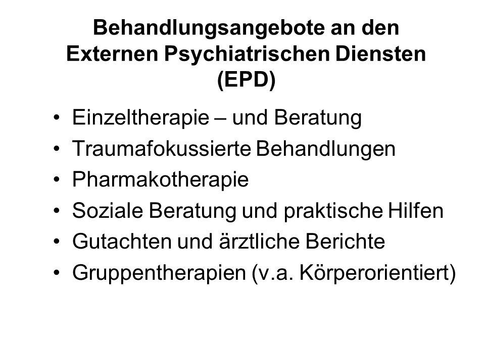 Behandlungsangebote an den Externen Psychiatrischen Diensten (EPD)
