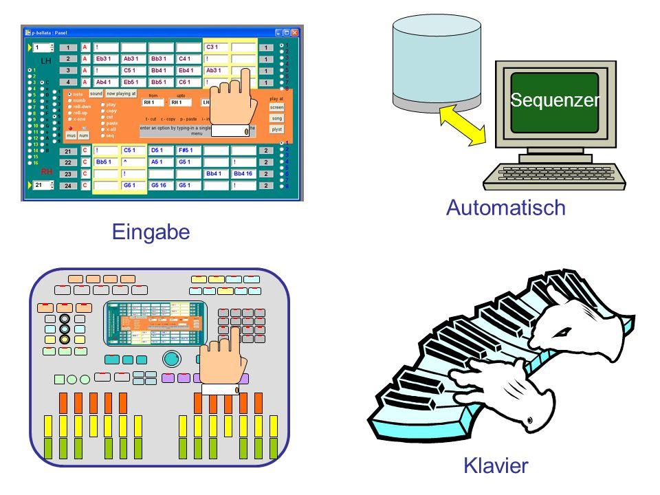 Sequenzer Automatisch Eingabe Klavier