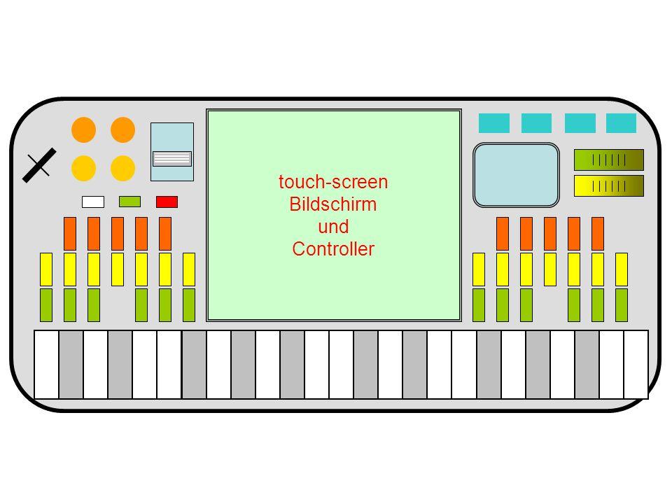 touch-screen Bildschirm und Controller