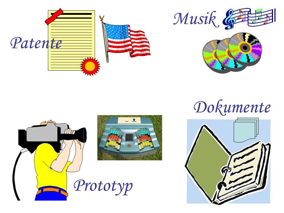 Musik Patente Dokumente Prototyp