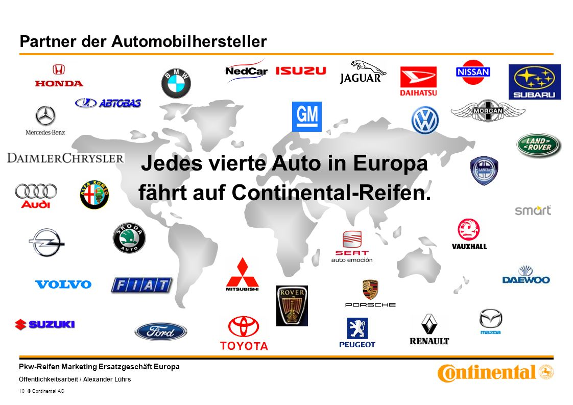 Partner der Automobilhersteller