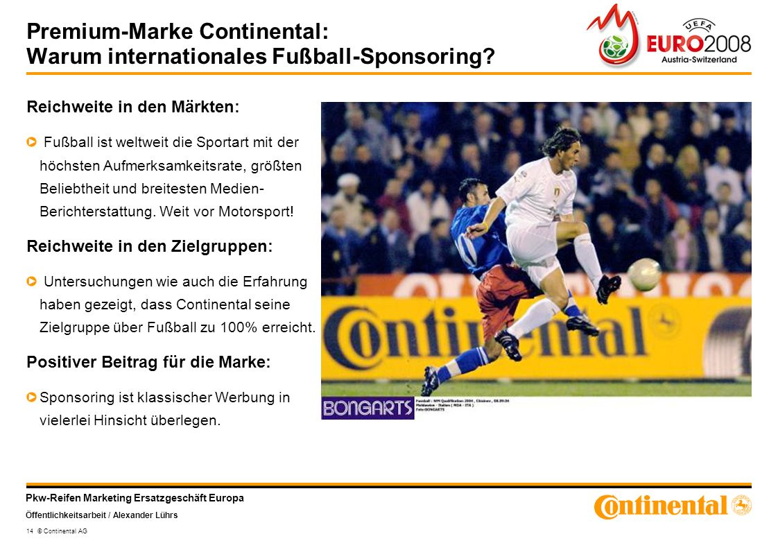 Premium-Marke Continental: Warum internationales Fußball-Sponsoring