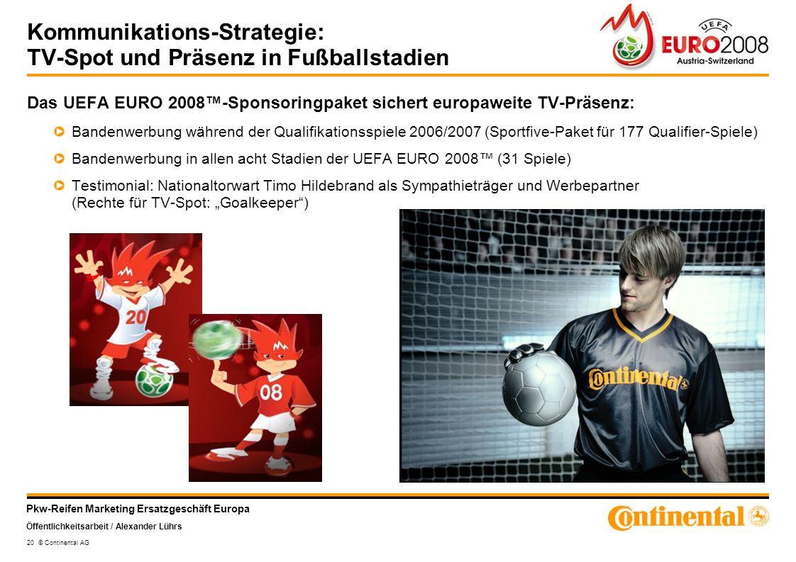 Kommunikations-Strategie: TV-Spot und Präsenz in Fußballstadien