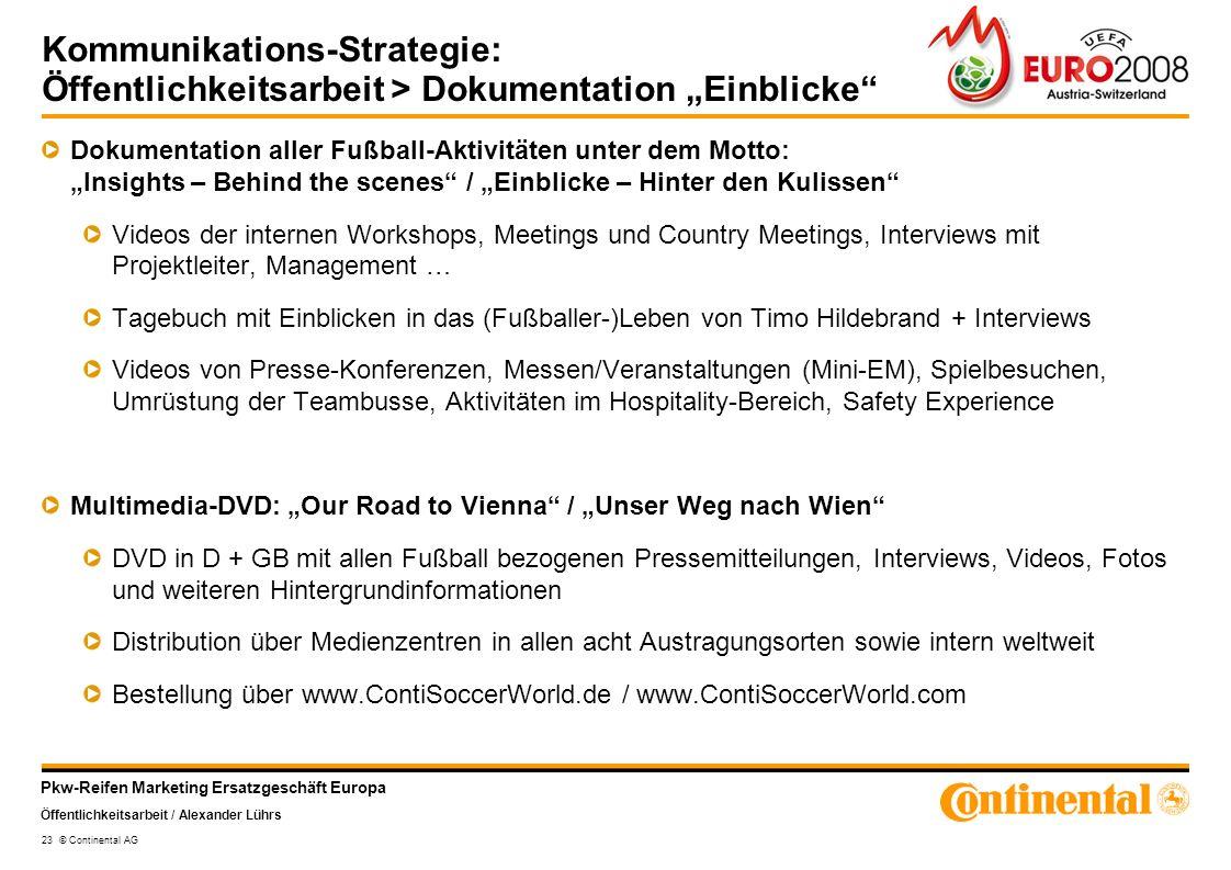 """Kommunikations-Strategie: Öffentlichkeitsarbeit > Dokumentation """"Einblicke"""