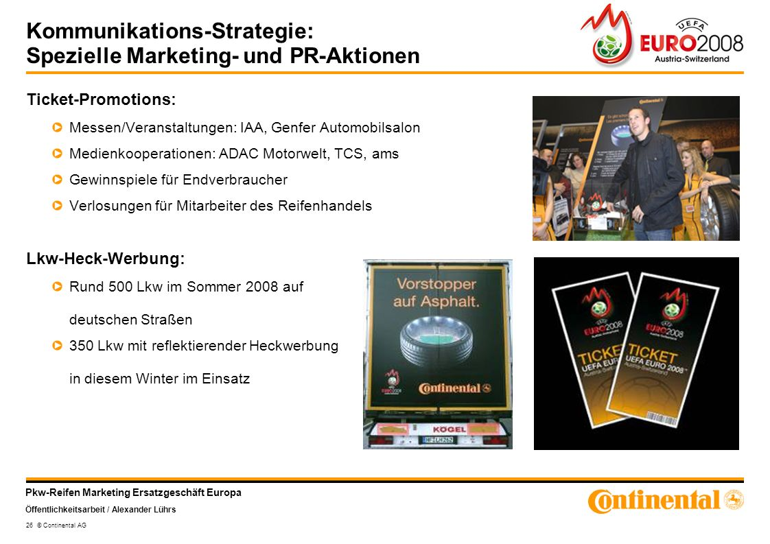 Kommunikations-Strategie: Spezielle Marketing- und PR-Aktionen