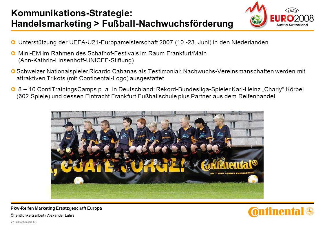 Kommunikations-Strategie: Handelsmarketing > Fußball-Nachwuchsförderung