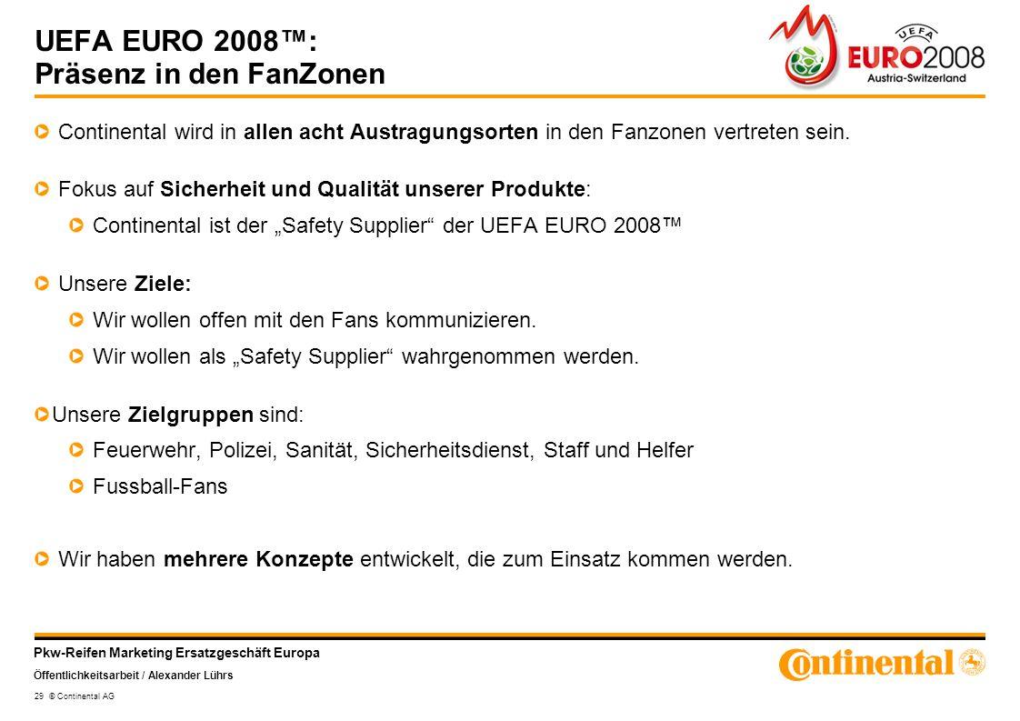 UEFA EURO 2008™: Präsenz in den FanZonen