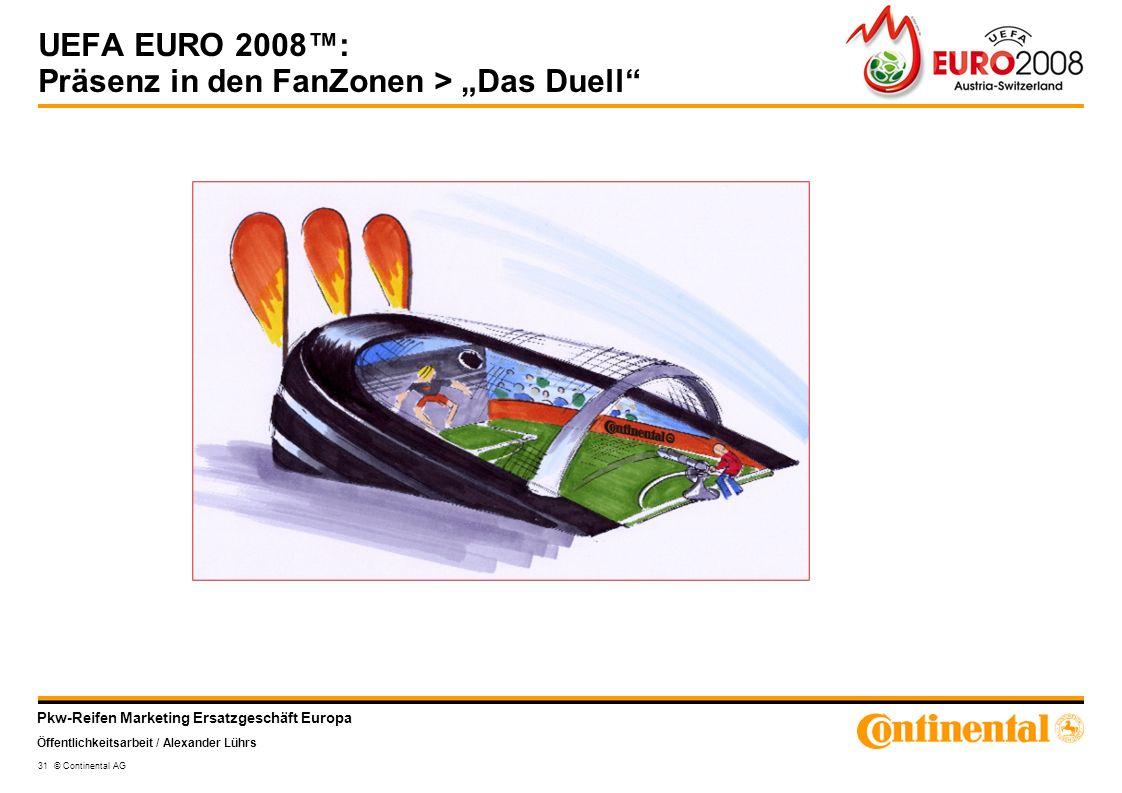 """UEFA EURO 2008™: Präsenz in den FanZonen > """"Das Duell"""