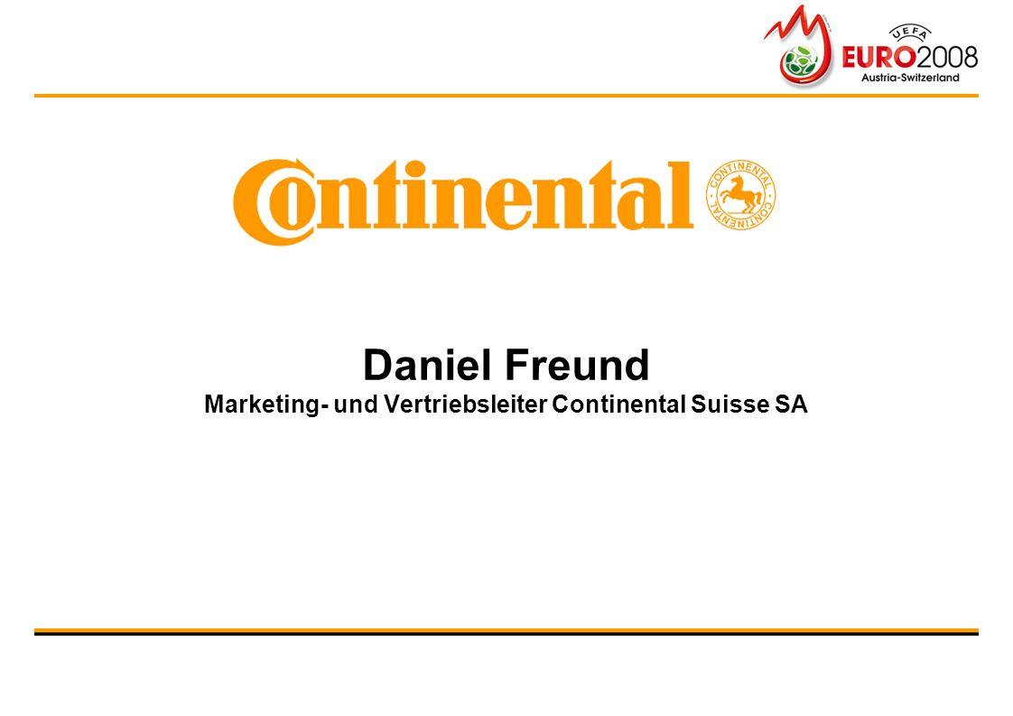 Daniel Freund Marketing- und Vertriebsleiter Continental Suisse SA
