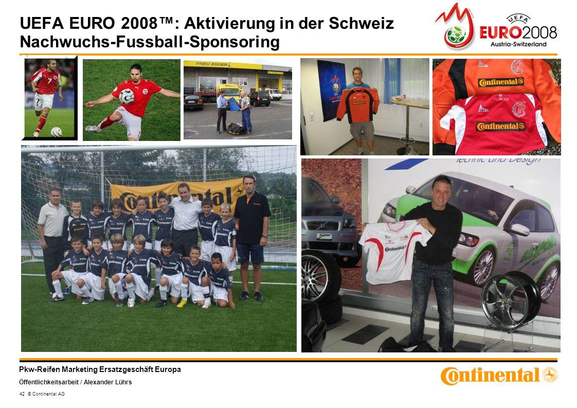 UEFA EURO 2008™: Aktivierung in der Schweiz Nachwuchs-Fussball-Sponsoring