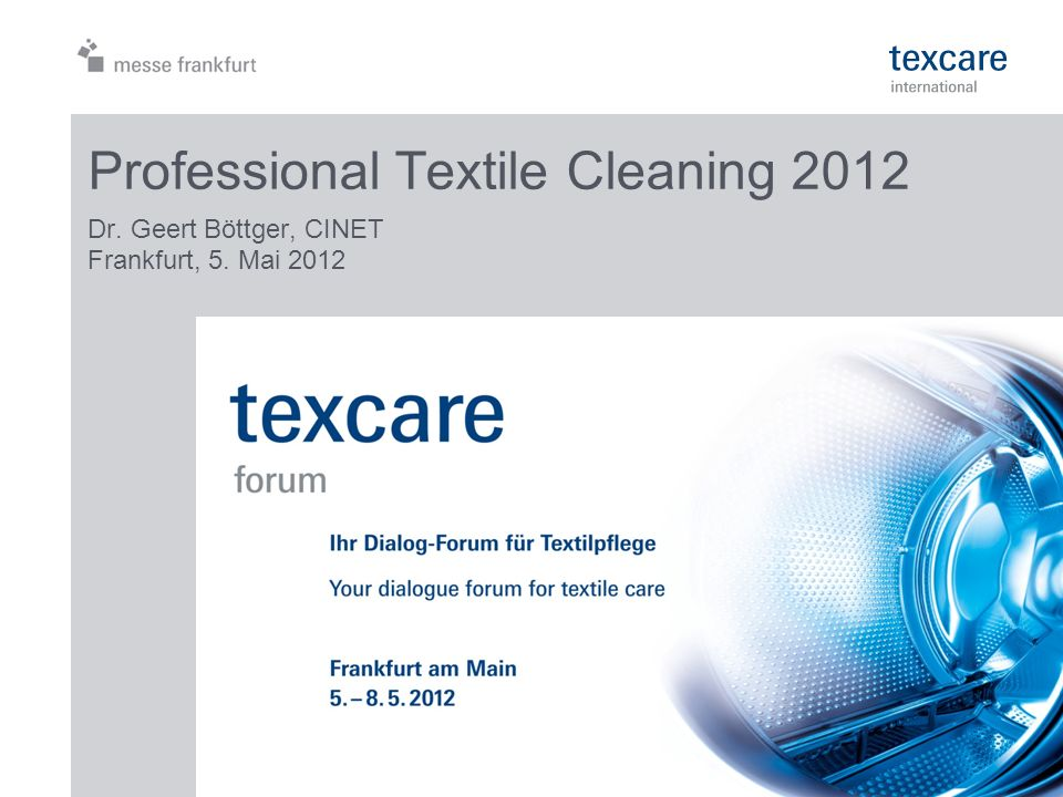 Professional Textile Cleaning 2012