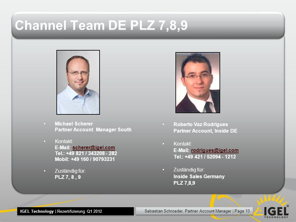 Channel Team DE PLZ 7,8,9 Michael Scherer
