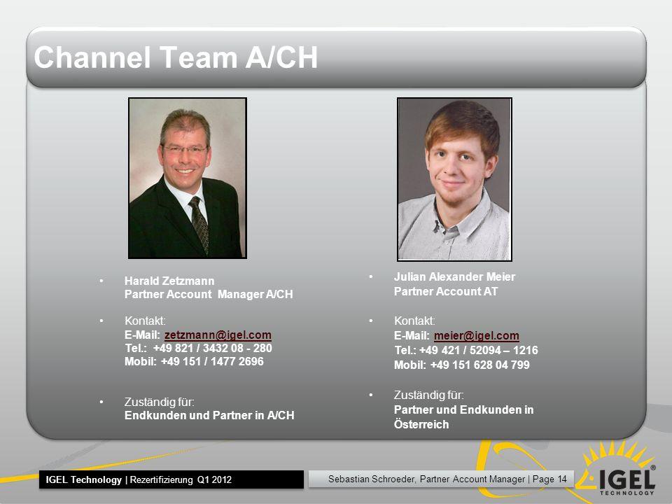 Channel Team A/CH Julian Alexander Meier Harald Zetzmann