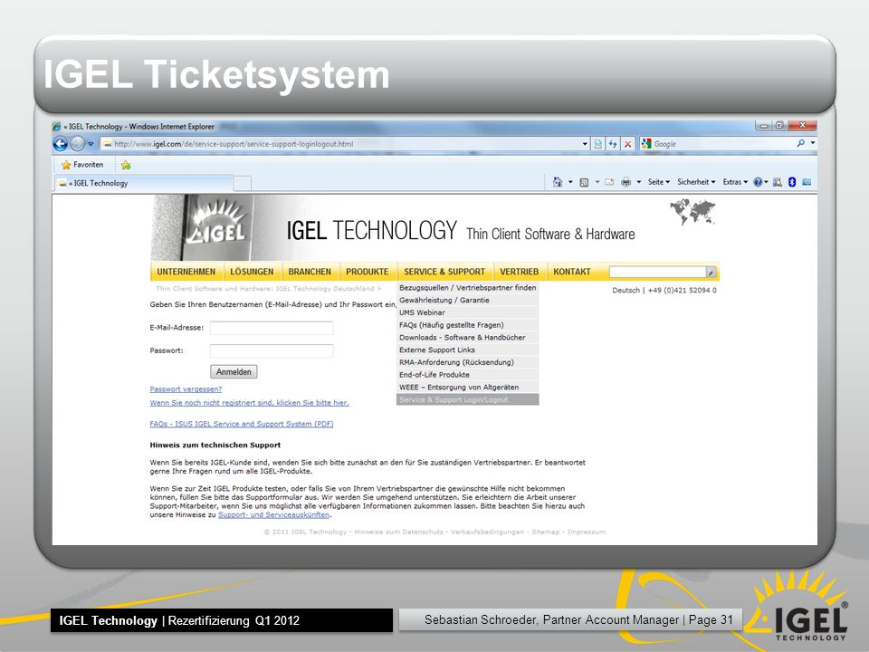 IGEL Ticketsystem