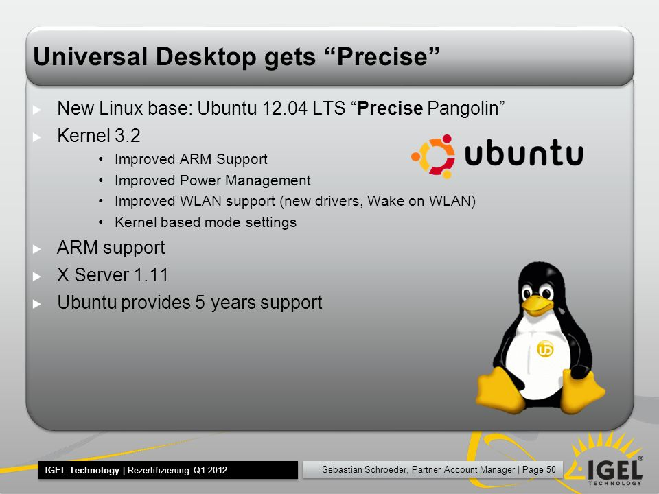 Universal Desktop gets Precise