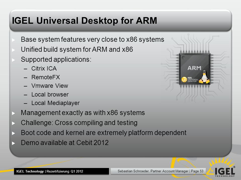IGEL Universal Desktop for ARM