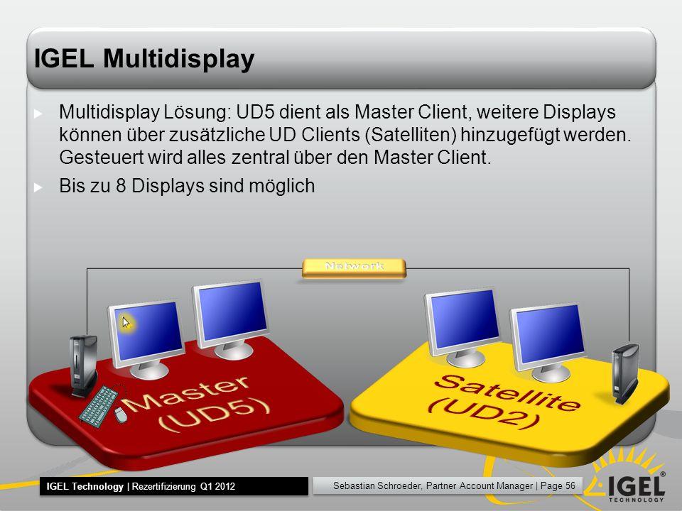 Satellite (UD2) Master (UD5) IGEL Multidisplay