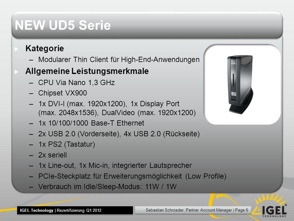 NEW UD5 Serie Kategorie Allgemeine Leistungsmerkmale